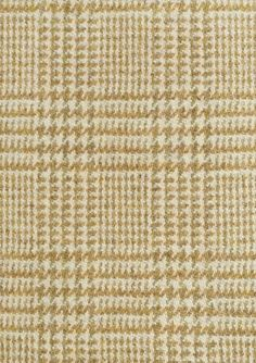 Drummond Tweed Fabric Smart wool fabric with small check design in ochre and sage.  Suitable for curtains and upholstery.