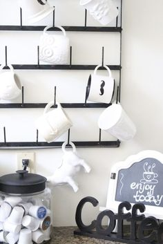 A Fresh White Kitchen | My Life From Home- Room by Room- kitchen- home decor- Do it Yourself- DIY- DIY projects- room design- rustic home decor- decoration ideas- room decor ideas- white kitchen- painted cabinets- farmhouse kitchen- coffee station- coffee- coffee bar