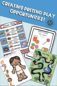 Children learn and grow while pretend playing. Use these resources to create dramatic play spaces for your classroom and keep your students engaged and interacting with each other. Speech Therapy Activities, Language Activities, Circle Time Activities, Activities For Kids, Pre-k Resources, Communication Development, Play Fighting, Play Spaces, Preschool Math