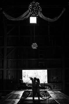 Black and white engagement photo at Tumbledown Barn in Verona.   Photo: Melissa Grace Photography