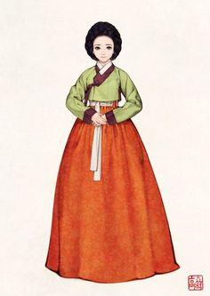 21번째 이미지 Korean Hanbok, Korean Dress, Korean Outfits, Korean Traditional Dress, Traditional Fashion, Traditional Dresses, Korean Accessories, Korean Painting, Dress Drawing