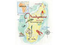 Jane Webster - map of Madagascar
