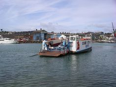 Cowes Floating Bridge, Isle of Wight, England - joins East and West Cowes across the Medina