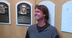 Randy Johnson tours the Baseball Hall of Fame and sees where his plaque will be displayed: