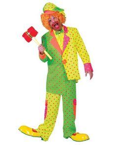 Pokey Dot Clown Costume - Mens-- #HalloweenCostumesForAdults