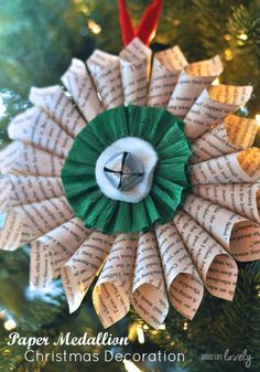 Paper medallion Christmas decoration