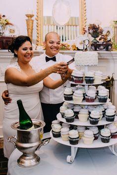 Esmeralda and Armando's 40 Guest Wedding. The Allens Photography. See more here... @intimateweddings.com #cupcakes #smallweddings
