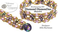 """This video tutorial from The Potomac Bead Company teaches you how to make Allie Buchman's """"Diamond DiamonDuo"""" bracelet. Find a list of supplies in the description below by clicking """"show more."""" Purchase the diagrammed .pdf file here: .... Bracelet,"""