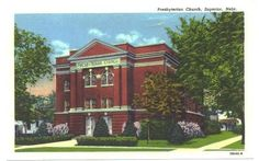 Vintage Superior Nebraska Curteich Linen Postcard Presbyterian Church Unused