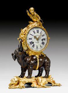 "MANTEL CLOCK ""A L'ELEPHANT"","