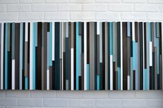 Abstract Painting on Wood   Reclaimed Wood Art  by moderntextures, $675.00 :: This girl has the most amazing pieces!! Even though they are a zillion dollars :/ I'd love to have one someday!!!