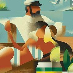 #vintage #illustration #summer #swimsuit #marine #retro #classic #madsberg #art #artist #artdeco