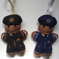 Pilot uniform gift for pilot. Tree Decorations, Christmas Decorations, Christmas Ornaments, Holiday Decor, Gingerbread Man, Gingerbread Cookies, Handmade Ornaments, Handmade Gifts, Pilot Uniform