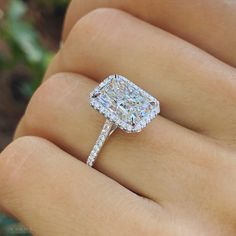 Rectangle Engagement Rings, Radiant Cut Engagement Rings, Dream Engagement Rings, Engagement Ring Cuts, Wedding Ring Emerald Cut, Emerald Diamond Rings, Big Diamond Wedding Rings, Engagement Photos, Most Beautiful Engagement Rings