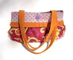 Lilac and Orange Short & Sassy Purse | Kate O bags and more