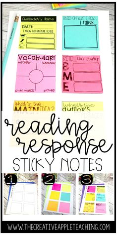 Do your students love to sticky notes in the classroom? Mine do, too! Tired of printing worksheets? I am, too! These sticky notes will have your students responding to what they read, checking for comprehension, and thinking critically... and they won't even know it! Are you ready to make learning fun again?