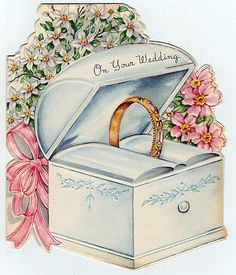 1949 wedding card by jarmie52, via Flickr