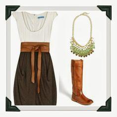 fall dress + boots