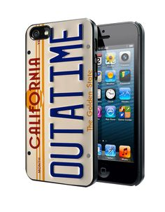 Back to The Future DeLorean License Plate Samsung Galaxy S3 S4 S5 S6 S6 Edge (Mini) Note 2 4 , LG G2 G3, HTC One X S M7 M8 M9 ,Sony Experia Z1 Z2 Case