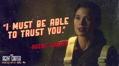 "S1 Ep3 ""Time & Tide"" - If you don't have trust... #AgentCarter"