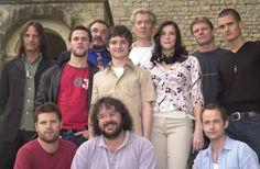 Питер Джексон с актерами перед началом съемки «Властелина Колец»