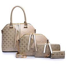 29.38$  Watch here - http://alihxr.shopchina.info/go.php?t=32667770115 - 4 Pcs/Set Face Designer Women Bags Crocodile Leather Purses And Handbags High Quality Shoulder Bag Ladies Crossbody Bag S-148 29.38$ #magazineonlinebeautiful