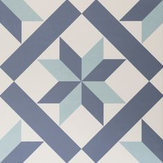 Hanoi Star Blue Floor Tiles from Tile Mountain only per tile or per sqm. Order a free cut sample, dispatched today - receive your tiles tomorrow Grey Floor Tiles, Blue Floor, Blue Tiles, Bathroom Floor Tiles, Grey Flooring, Wall And Floor Tiles, Shower Tiles, Hanoi, Patterned Wall Tiles
