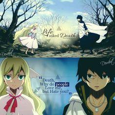 That sums them up pretty well actually. Mavis have ing eternal life as long as fairy tail is alive. And zeref wanting to die.