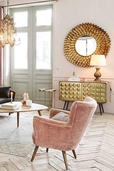 Pink and gold decor   Maisons du Monde