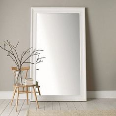 Portland Wide Full Length Mirror - White from The White Company Long Mirror, Freestanding Mirrors, Wall Mirrors, Mirror Mirror, Mirrors For Sale, Dressing Table Mirror, Cute Room Decor, Bathroom Wall Decor, Yurts