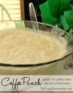 3 cups water and 2 scoops coffee-scoop - Ice Cream Punch, Coffee Punch, Coffee Presentation, Lemon Drink, Apple Cider Donuts, Coffee Ice Cream, Tailgating Recipes, Smoothie Drinks, Smoothies