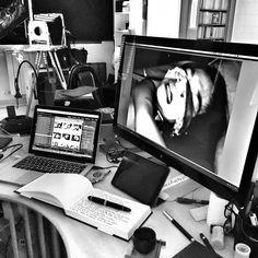 Working in my projects. #murdersinchina #forbiddenlove #blackandwhite #alfondc