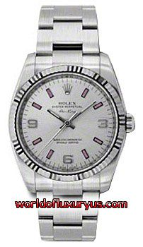 This Rolex Oyster Perpetual Air-King White Gold Mens Watch, 114234 spio features 34 mm Stainless Steel case, Silver dial, Sapphire crystal, Fixed bezel, and a Stainless Steel bracelet. - See more at: http://www.worldofluxuryus.com/watches/Rolex/Air-King/114234-SPIO/641_752_6305.php#sthash.RQzrEUyB.dpuf