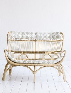 Rattan Slouch Couch Natural