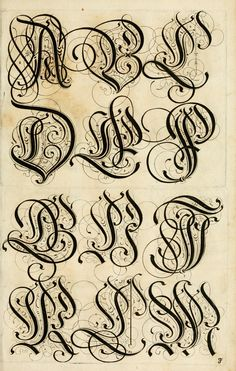 A 17th century German book on the art of writing. The full title:The Proper Art of Writing: a compilation of all sorts of capital or initial letters of German, Latin and Italian fonts from different masters of the noble art of writing.  Published 1655 by Bey Paulus Fürsten Kunsthändlern daselbst in Nürnberg .