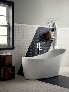 Amazing and luxurious, wonderfully or pretty common, you'll find the sense you're watching for these superb bathroom ideas! Take a survey of the board and let you inspiring! See more clicking on the image. Cheap Bathroom Tiles, Modern Bathroom Tile, Bathroom Tile Designs, Cheap Bathrooms, Bathroom Floor Tiles, Wood Bathroom, Simple Bathroom, Amazing Bathrooms, Bathroom Ideas