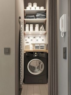 50 Cool Small Laundry Room Design Ideas December Leave a Comment Every family home needs a laundry room, but not all homes have enough space for one. But not all laundry rooms need a lot of space! A laundry just needs to be functional Apartment Room, Studio Apartment, Small Apartment Modern, Room Design, Tiny Laundry Rooms, Utility Cupboard, Utility Rooms, Vintage Laundry Room, Modern Apartment