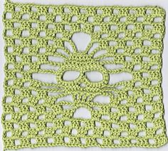 Skull square free pattern