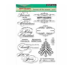 Penny Black Clear Stamp - Beauty of the Season, The Stamp Simply Ribbon Store