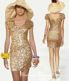 gold sequin cocktail dress \u2013 Fashion Dress Trend 2017