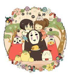 /Spirited Away/#413805 - Zerochan | Hayao Miyazaki | Studio Ghibli / Ogino Chihiro, Haku, and No-Face