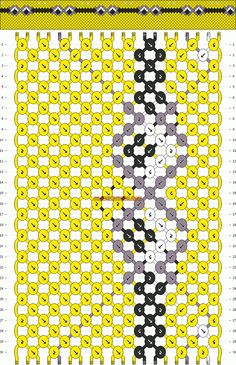 Normal Friendship Bracelet Pattern #10444 - BraceletBook.com