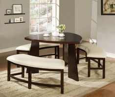 Kitchen Tables With Benches beautiful bench dining room set ideas dining room table perfect small AVZAQPD Dining Set With Bench, Kitchen Table Bench, Small Dining, Dining Room Sets, Dining Room Design, Dining Room Furniture, Dining Room Table, A Table, Kitchen Dining