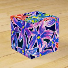 Beautiful Exotic Floral Watercolor Favor Box - purple floral style gifts flower flowers diy customize unique