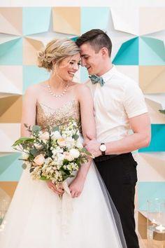 Mid-Century Geometric Wedding Inspiration
