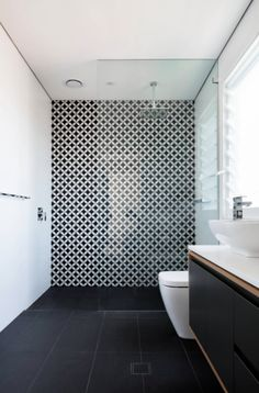 16 Ways To Add PATTERN To Your Home. Bathroom StorageBathroom Feature Wall  TileGrey Floor Tiles BathroomWhite ... Part 97