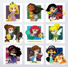 Chibi Disney Girls by Malycia.deviantart.com on @deviantART