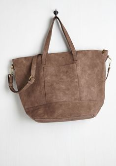 Carry Well Then Bag. Alrighty, so lets get started telling you what we love about this taupe carryall! #brown #modcloth