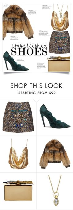 """""""Embellished"""" by andragabriela on Polyvore featuring Dolce&Gabbana, Balenciaga, Alexander McQueen, Edie Parker and Temple St. Clair"""