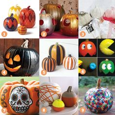 I like these ideas specially, the sugar skull pumpkin.